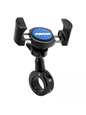 RVMC2B | Arkon RoadVise Series - Universal Smartphone Mount for Motorcycles - Premium Black Metal (RV001WR + MC2B)