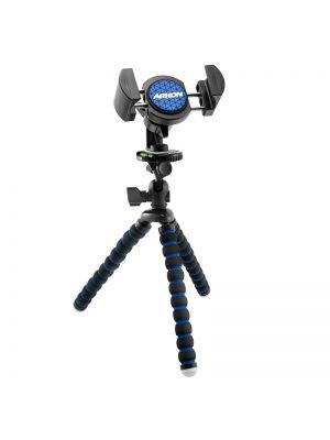 RVTRIXL | Arkon 11 inch Tripod with Phone Holder Mount for Live Mobile Broadcasting