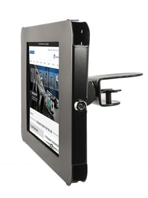 TAB05237KIT | Arkon Metal iPad Shelf Clamp Mount with Key Lock (Black)