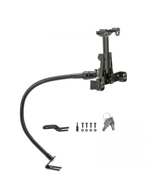TAB592L23 | Arkon Car or Truck Locking Seat Rail Tablet Mount with 23inch Gooseneck & 4-Hole AMPS Head