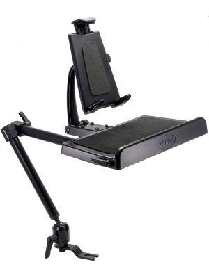 TCMHD001 | Arkon Tablet Combo Mount 22in Seat Rail / Floor Mount with Tablet Combo Keyboard Mount