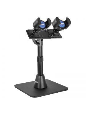 TWBHD8RV2 | Arkon TW Broadcaster Pro Stand - Dual Phone Desk Stand for Live Streaming Periscope Facebook Live