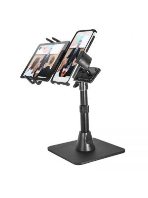 TWBHD8SM6 | Arkon TW Broadcaster Combo Stand - Side-by-Side Live Streaming with iPad mini or iPhone Periscope Facebook